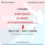 Workout donderdag 21 januari