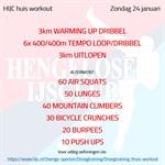 Workout zondag 24 januari