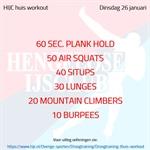 Workout dinsdag 26 januari