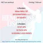 Workout zondag 7 februari