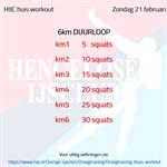 Workout zondag 21 februari