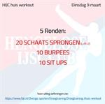 Workout dinsdag 9 maart