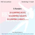 Workout donderdag 11 maart