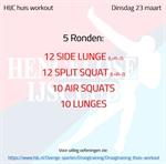 Workout dinsdag 23 maart