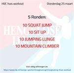 Workout donderdag 25 maart